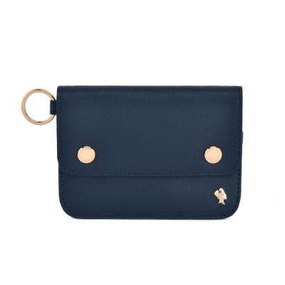 PORTER - 輕甜繽紛SPIRIT橫式卡夾零錢包 - 深藍(金)