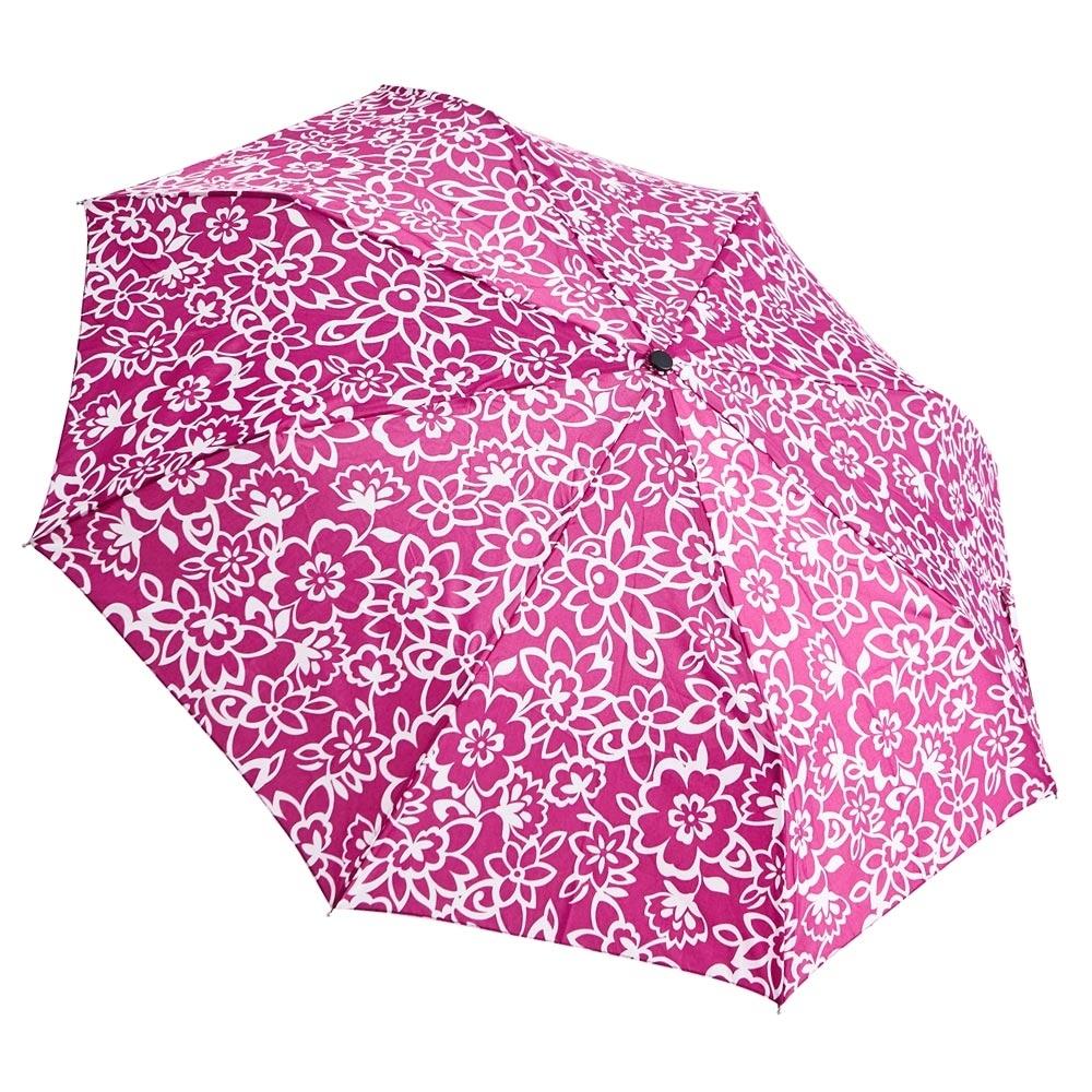 RAINSTORY桃色花漾抗UV隨身自動傘