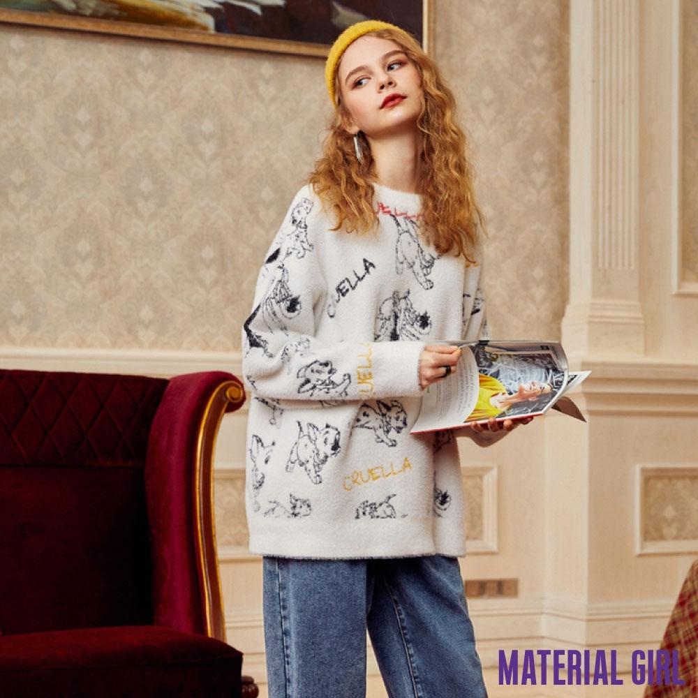 MATERIAL GIRL 迪士尼反派白色毛衣針織衫【春季新品】-A461081