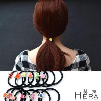 Hera赫拉 彩色法瑯金屬造型髮圈/髮束/10入隨機