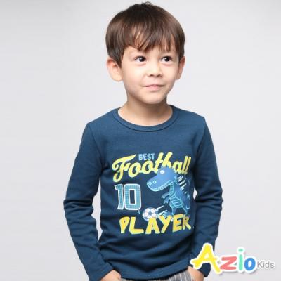 Azio Kids 男童 上衣 恐龍踢足球長袖上衣(藍)