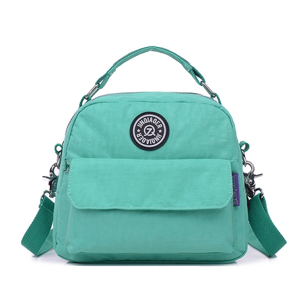 【KISSDIAMOND】多功能防潑水學院風背包(後背/斜背/大容量/Tiffany綠)