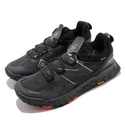 New Balance 慢跑鞋 Fresh Foam Hierro 寬楦 男鞋 紐巴倫 GTX鞋面 避震 黃金大底 黑 灰 MTHIEBX52E