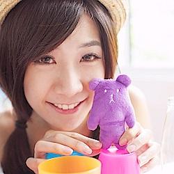 CRAFTHOLIC 宇宙人 紫色熊熊寶貝吊飾