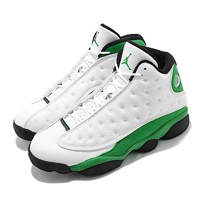 Nike 籃球鞋 Air Jordan 13代 男鞋 Lucky Green 喬丹 AJ13 白 綠 DB6537113