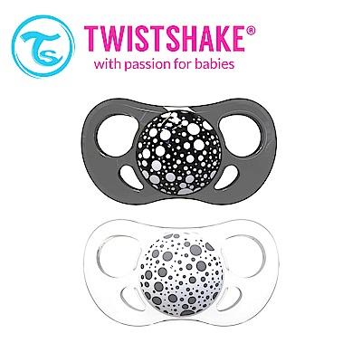 Twistshake 雙扁嘴型時尚彩虹奶嘴 6M+