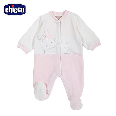 chicco-糖果兔系列-拼接造型前開兔裝-粉(3-12個月)