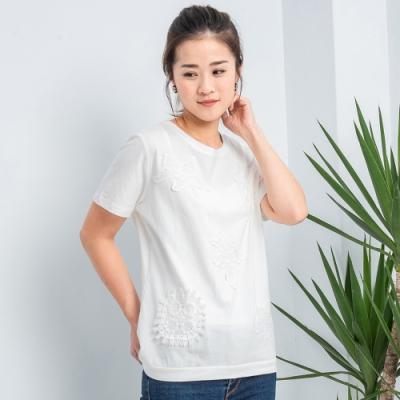 【白鵝buyer】 海星蕾絲造型棉上衣_白