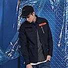 CACO-撞色織條軍襯衫(兩色)-男-【QST010】