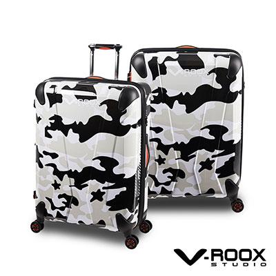 V-ROOX AXIS  26吋 黑白迷彩 原創設計 防爆拉鏈可擴充行李箱