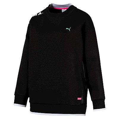 PUMA-女性流行系列Chase圓領衫-黑色-亞規