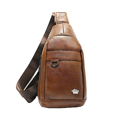 DRAKA達卡 - 路易XIV系列- 牛皮單肩斜背胸包-褐