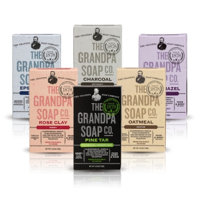 Grandpa's Soap 神奇爺爺 我愛爺爺全入組 4.25oz x6