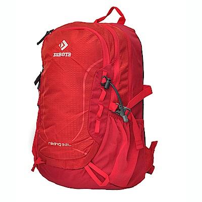 迪伯特DIBOTE 輕便攻頂登山包/短程登山背包/攻頂包-32L(紅)