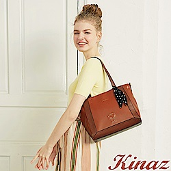 KINAZ x PEANUTS™ 心願手札兩用斜背托特包-西柚橘紅-勇敢愛系列