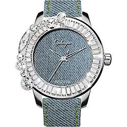 Galtiscopio迦堤 Denim Collectio 丹寧系列率性手錶-50mm