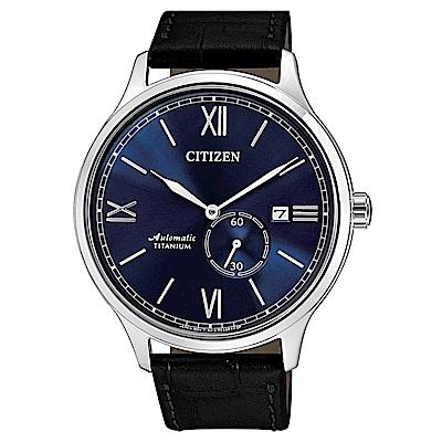 CITIZEN 星辰 紳仕氣度鈦金屬機械男錶(NJ0090-21L)