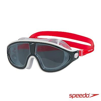 SPEEDO 成人進階開放水域泳鏡RIFT 紅/灰