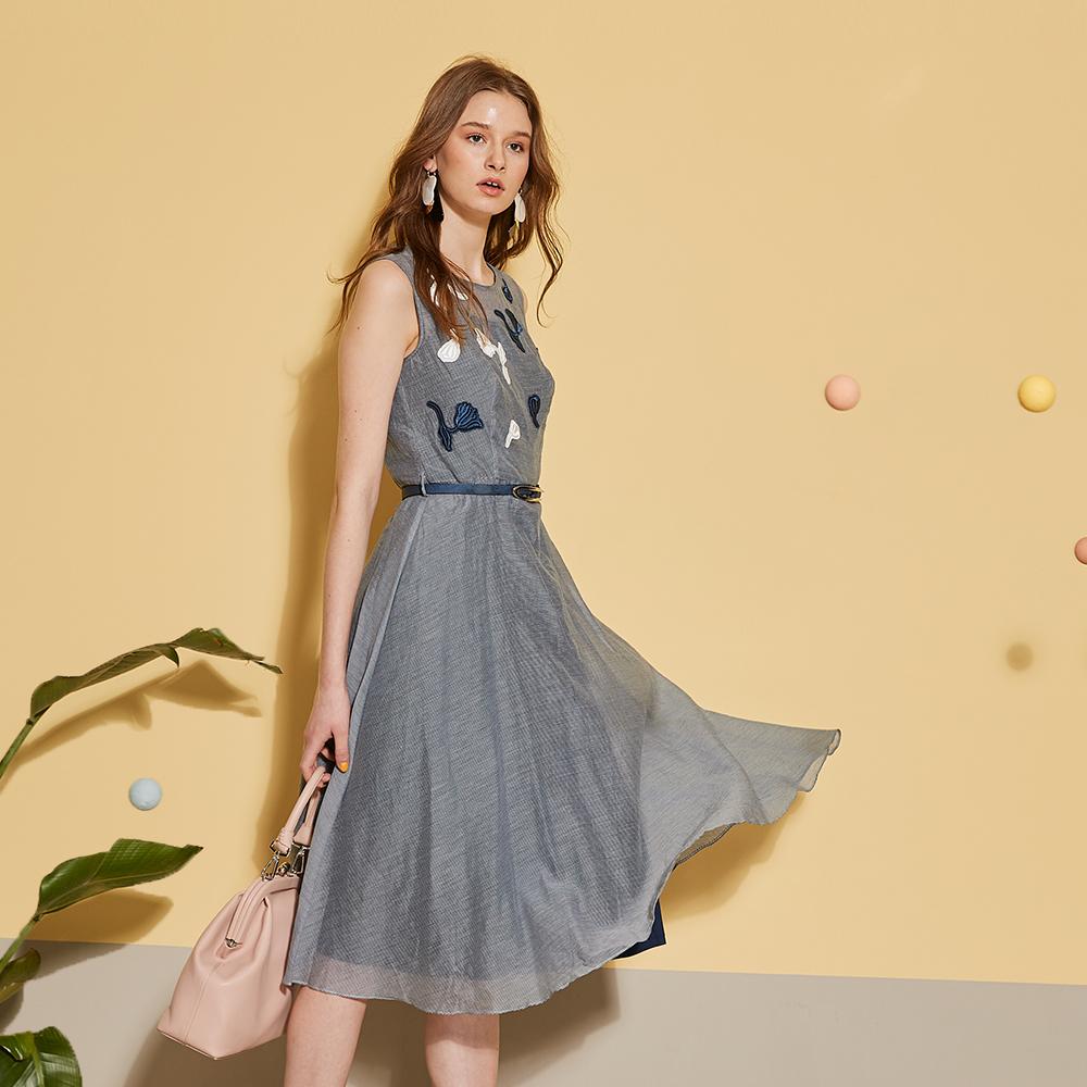 Haute Couture 高定系 進口刺繡印花輕時尚禮服洋裝-藏藍