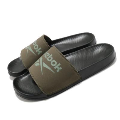 Reebok 拖鞋 Fulgere Slide 套腳 男鞋 基本款 大logo 舒適 輕便 穿搭 綠 黑 FX3093