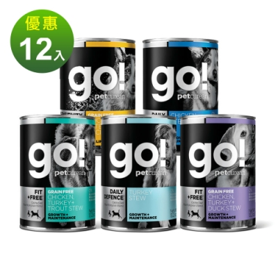 Go! 天然主食狗罐 五口味 12件組