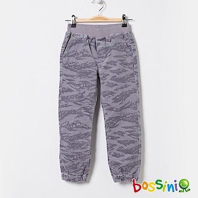 bossini男童-厚棉束口長褲灰