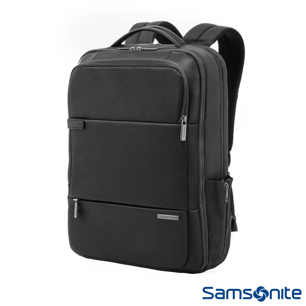 Samsonite新秀麗 Garde經典多功能夾層筆電後背包 15.6 (黑)