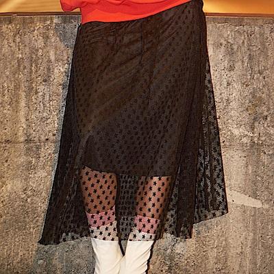 FILA #架勢新潮 女紗裙-黑色 5SKV-1439-BK