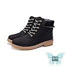 Casual Girl「USA」美式工作靴 (黑色)