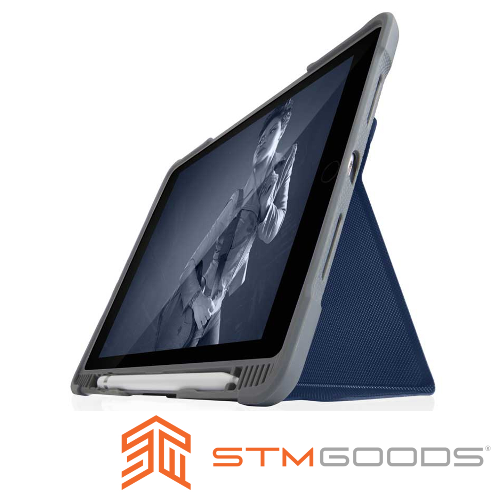 澳洲STM Dux Plus Duo iPad 9.7吋 (第六代) 專用軍規防摔殼-深藍
