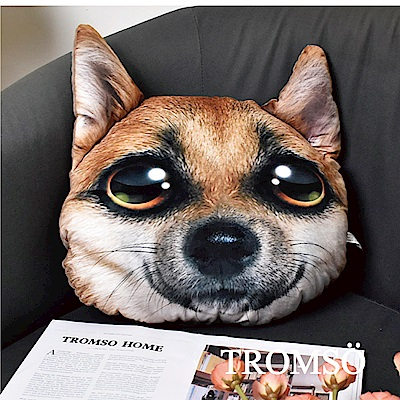 TROMSO 歡樂狗寶貝抱枕-C407大眼狐狸狗