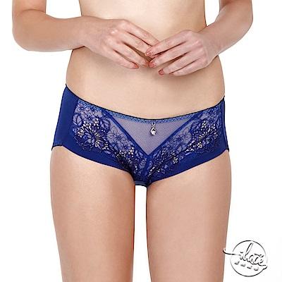 LADY 浮華魅影系列 低腰平口內褲(光影藍)