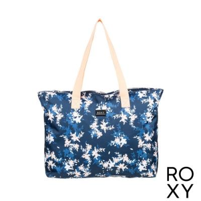 【ROXY】WILDFLOWER PRINTED ZIP 包包 海軍藍