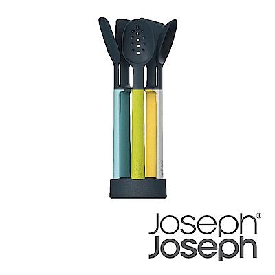 Joseph Joseph 不沾桌矽膠料理鏟匙組(附座-自然色)