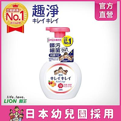 日本獅王LION 趣淨洗手慕斯-清新果香 250ml
