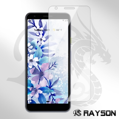 Google Pixel 3AXL 半膠 高清 曲面透明 手機 9H保護貼