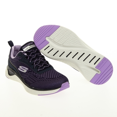 SKECHERS SOLAR FUSE 女休閒鞋-黑紫-149286NVPR