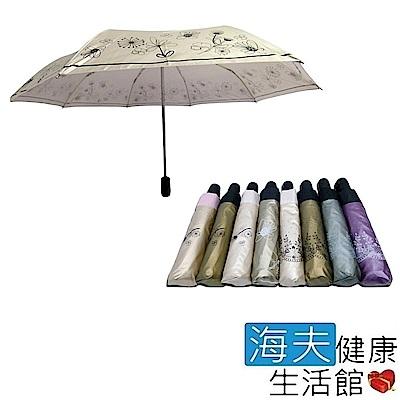 海夫健康生活館 分段式色膠自動開收傘