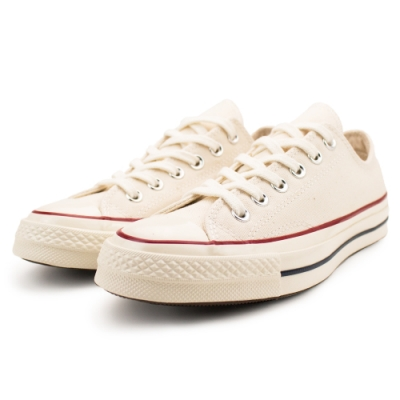 CONVERSE 1970 男女款 低筒帆布鞋-米白 162062C