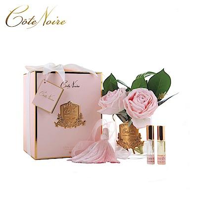 法國 CoteNoire 蔻特蘭 粉紅山茶玫瑰香氛花透明瓶