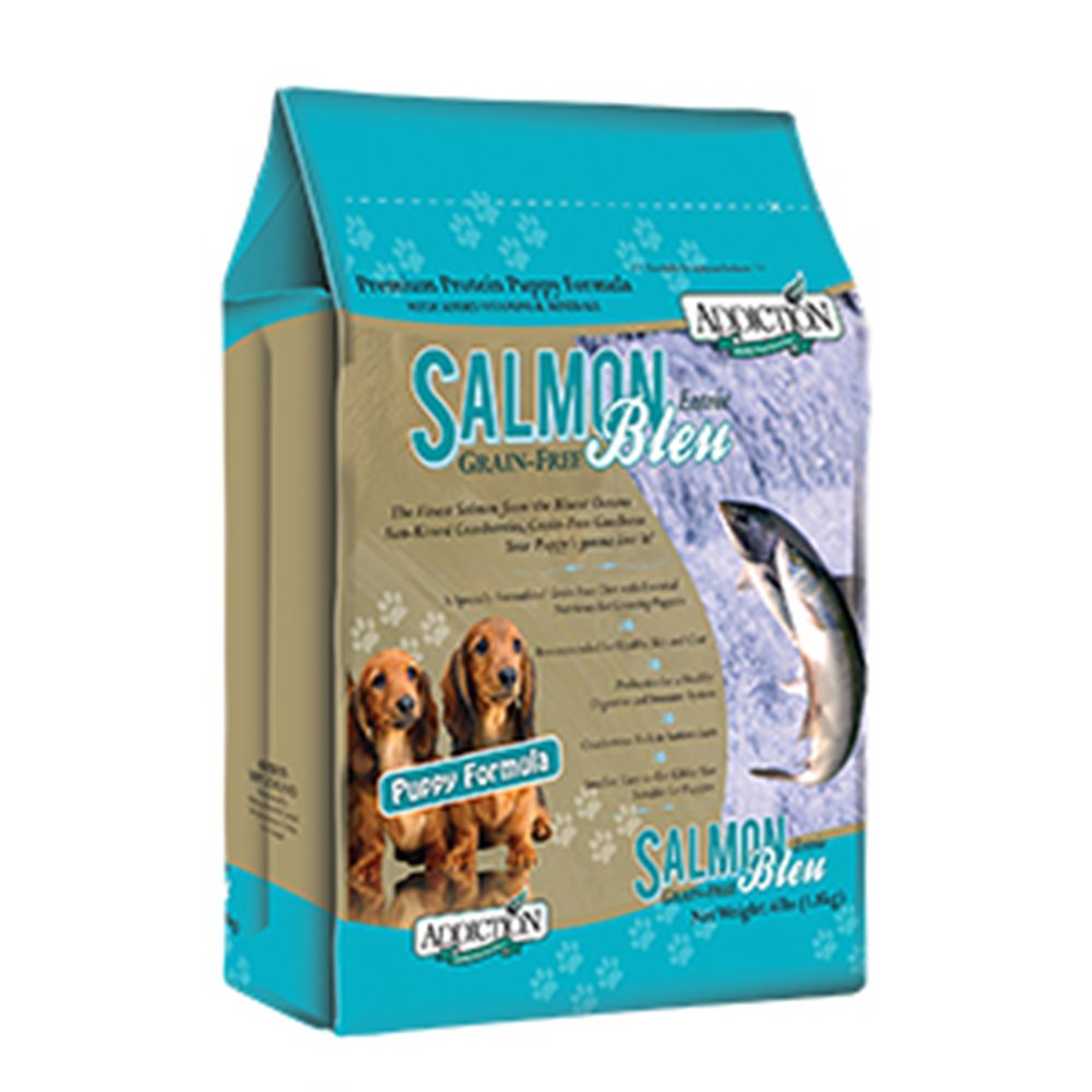 Addiction自然癮食 無穀藍鮭魚幼犬寵食犬糧 454G 兩包組