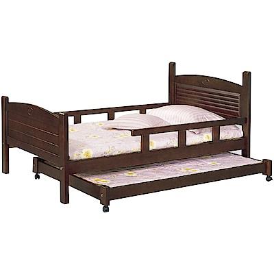 綠活居-馬布斯3.5尺單人子母床台組合(不含床墊)-114x197x88cm免組