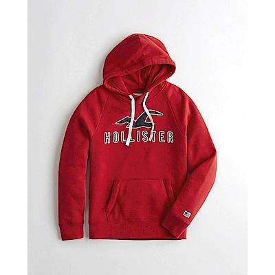 Hollister HCO 長袖 帽T  紅色 0681