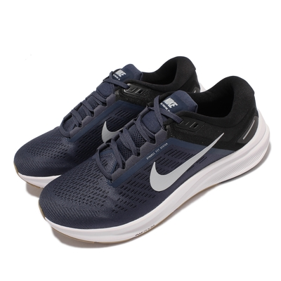 Nike 慢跑鞋 Zoom Structure 24 男鞋 輕量 透氣 舒適 避震 路跑 健身 藍 白 DA8535-400