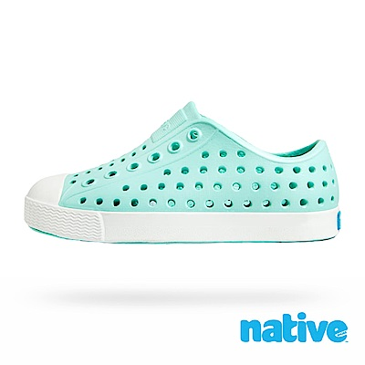 native 大童鞋 JEFFERSON 小奶油頭鞋-繡球藍x貝殼白