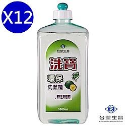台塑生醫 洗寶環保洗潔精 洗碗精 1000g X12入