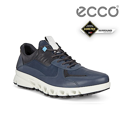 ECCO MULTI-VENT M 全方位城市戶外防水運動休閒鞋 男鞋灰蓝色/黑色