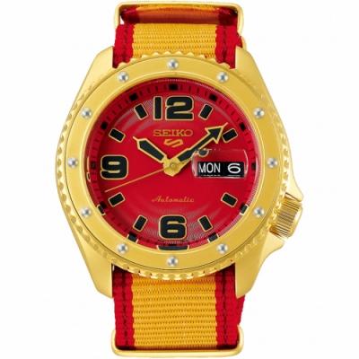 SEIKO 精工 5 Sports x 快打旋風 聯名限量機械錶-桑吉爾夫-42.5mm