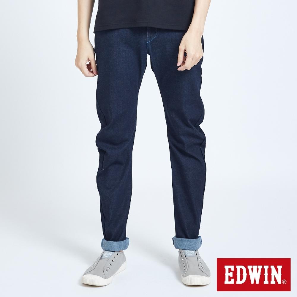 EDWIN 雙彈3D直筒牛仔褲-男-原藍色