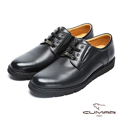 CUMAR英倫紳士 經典牛津舒適皮鞋-黑